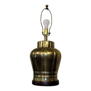 Frederick Cooper Hollywood Regency Ginger Jar Brass Table Lamp For Sale