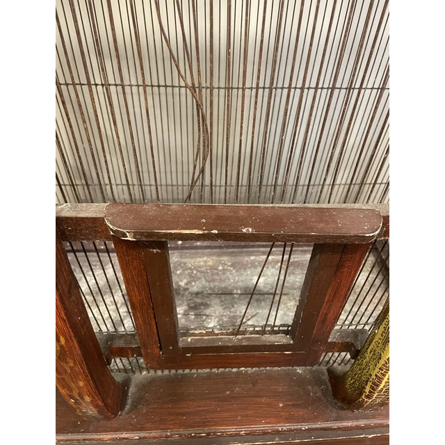 Brown 19th Century Vintage Three Piece Bird Cage For Sale - Image 8 of 11