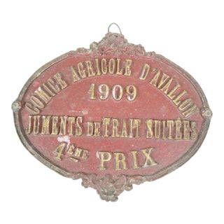 1909 French Horse Show Prize For Sale
