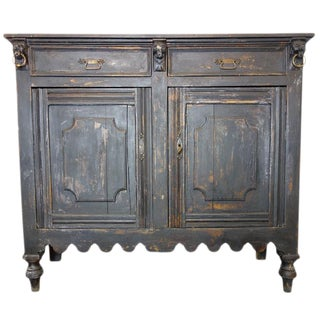Late 19th Century Griffin Sideboard with Distressed Black Finish