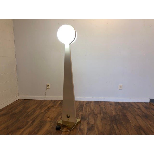Vintage Porcelain Floor Lamp With Three Lighting Options For Sale - Image 4 of 13