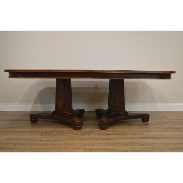 Henredon Historic Natchez Collection Flame Mahogany Regency Dining Table For Sale - Image 11 of 12