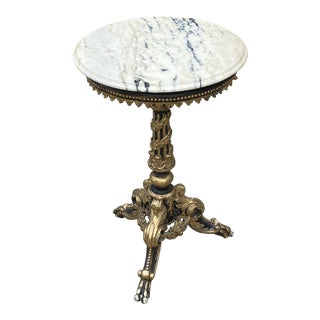 Kevin Stone Antiques Marble Side Table For Sale