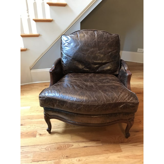 Ethan Allen Versailles Leather Chair - Image 2 of 5