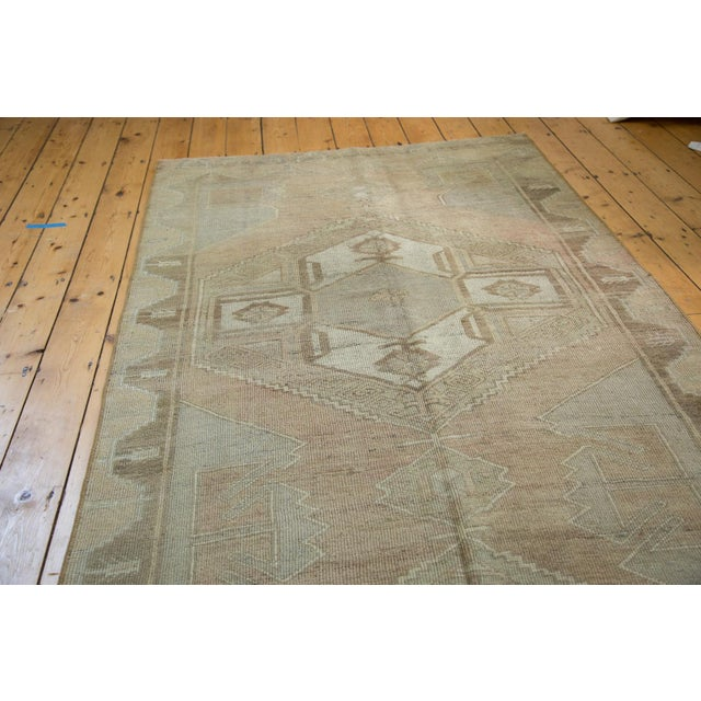 "Boho Chic Distressed Oushak Runner - 4'7"" X 10'8"" For Sale - Image 3 of 8"