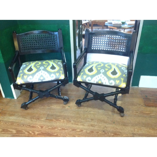 Mid-Century Campaign Chairs - Pair - Image 2 of 7
