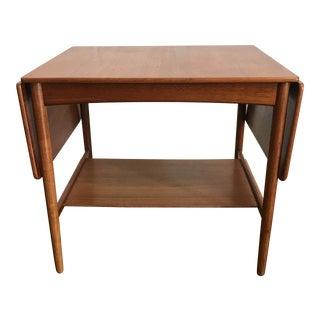 Vintage Mid-Century Hans Wegner Danish Drop Leaf Table For Sale