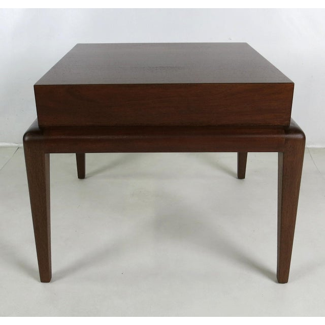 Mid-Century Modern Pair of Mahogany Side Tables by Seth Ben-Ari For Sale - Image 3 of 6