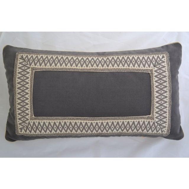 """Gray Velvet Custom Pillow - 22"""" x 12"""" - Image 2 of 6"""
