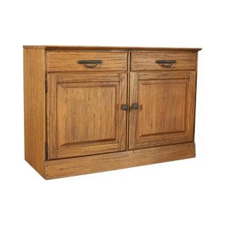 Brandt Ranch Oak Rustic 2 Drawer 2 Door Cabinet For Sale