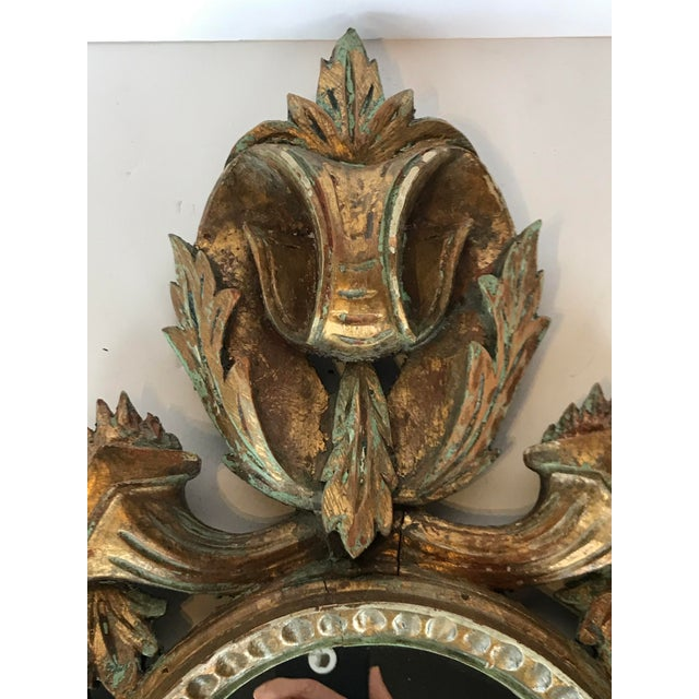 French Vintage French Louis XV Carved Wooden Mirror For Sale - Image 3 of 6