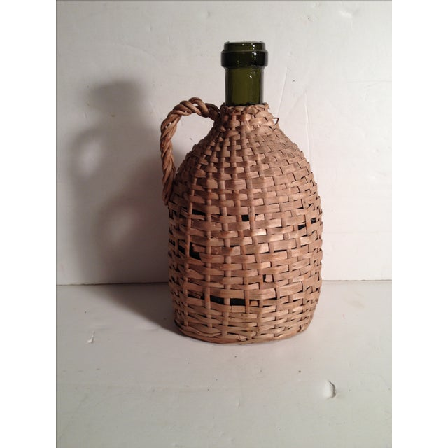 French Wicker-Wrapped Wine Bottle - Image 3 of 5