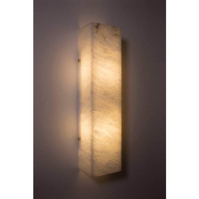 Modern Contemporary 003a Sconce in Alabaster by Orphan Work For Sale In New York - Image 6 of 6