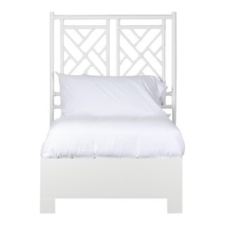 Chippendale Bed Twin - White For Sale