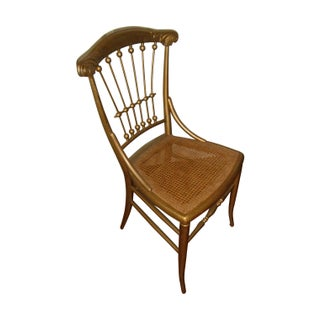 Vintage Spindle Back Cane Bottom Chair