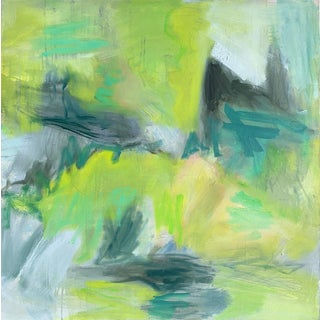 """""""Crystal Creek"""" by Trixie Pitts Abstract Expressionist Oil Painting For Sale"""