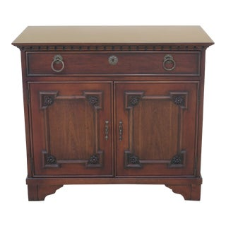 Modern Hickory Chair Co. Cherry Walnut Small Server Cabinet For Sale