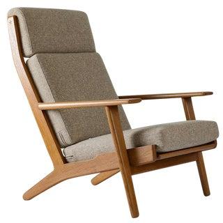 Hans Wegner GE-290 High Back Lounge Chair For Sale