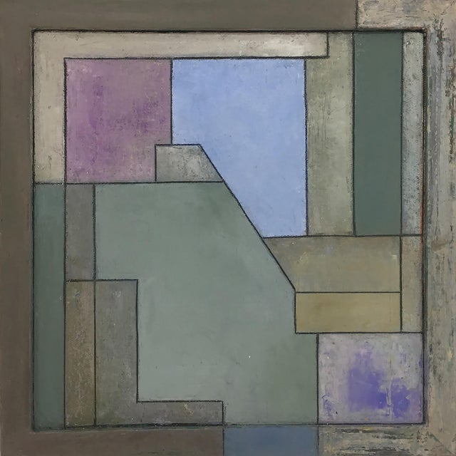 Abstract Square Geometric Oil Painting by Stephen Cimini on