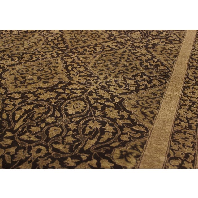 """Textile Design Heritage Shakira Brown & Green Wool Rug - 12'2"""" x 17' For Sale - Image 7 of 7"""