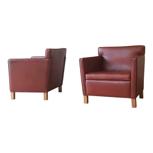 Ludwig Mies Van Der Rhoe Krefled Club Chairs - a Pair For Sale