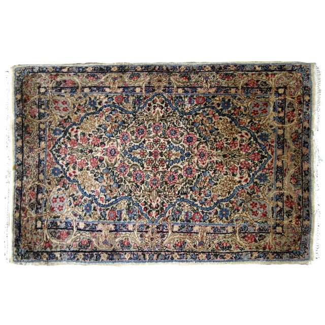 1920s, Handmade Antique Persian Kerman Rug 2.1' X 3.2' - 1b704 For Sale In New York - Image 6 of 7