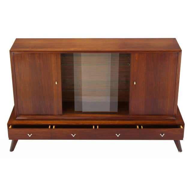 Early 20th Century Mid-Century Modern Credenza or Low China Cabinet For Sale - Image 5 of 8