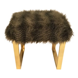 Modern Faux Fur Bench