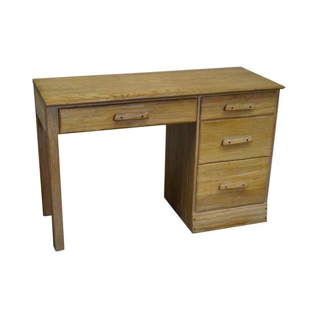 Brandt Ranch Oak Rustic Southwest Style Writing Desk (A) - Image 1 of 10
