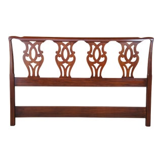 1983 Chippendale Henkel Harris Wild Black Cherry Queen or Full Headboard For Sale