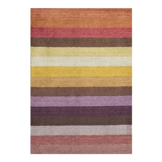 "Contemporary Hand Woven Rug - 4'7"" x 6'7"" For Sale"