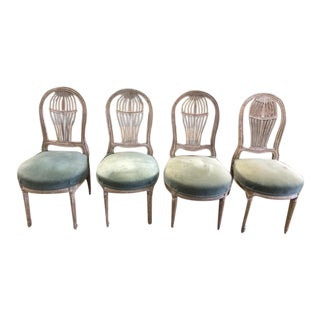 Early 20th Century Antique French Maison Jensen Balloon Chairs- Set of 4 For Sale