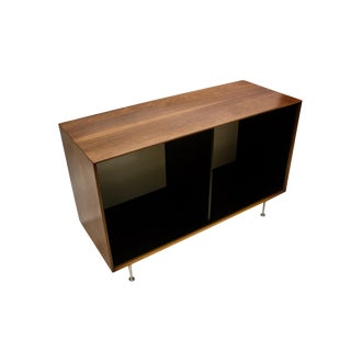 Mid Century Modern George Nelson Rosewood Thin Edge Open Storage Cabinet For Sale