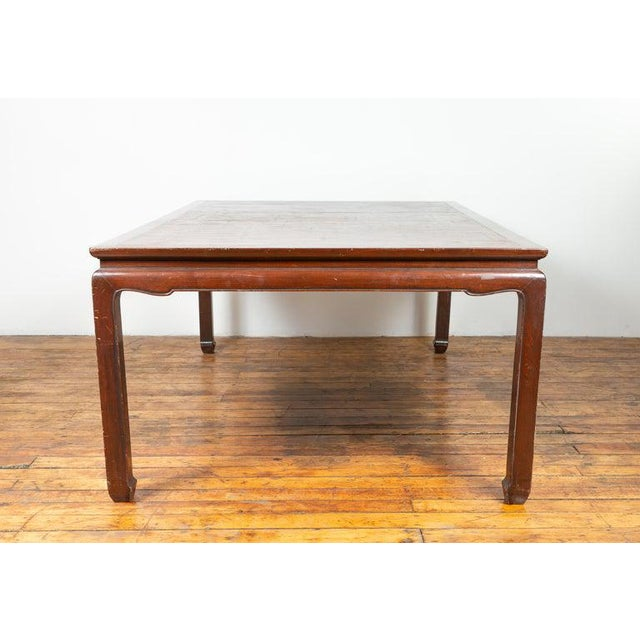 Vintage Thai Open Mat Top Inlay Dining Table For Sale - Image 10 of 11