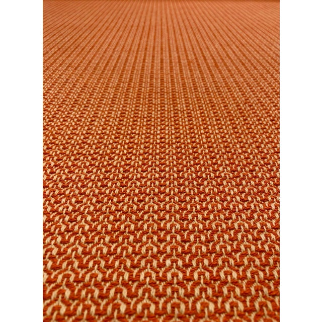 This multipurpose fabric is a great choice for upholstery or window treatments like roman shades or cornices. The orange...