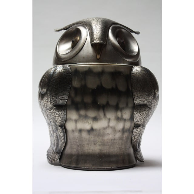 Vintage Japanese Pewtertone Ice Bucket / Cookie Jar For Sale - Image 13 of 13