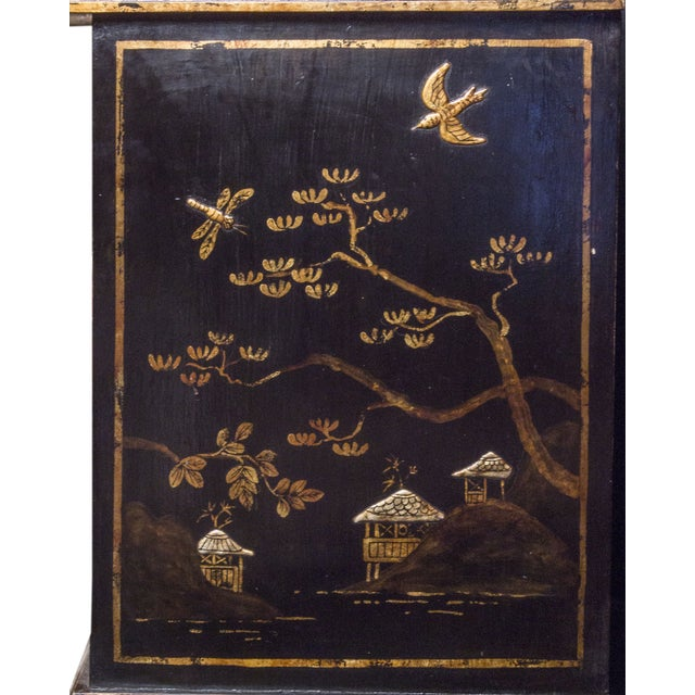 Tete De Negre Chinoiserie Bedside Chest (Pair) - Image 6 of 11