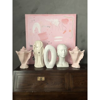 Oversized Pink Ceramic Seashell Sculptures-A Pair Preview