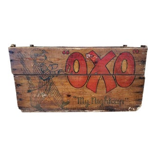 "Old School ""oxo"" Advertising Wooden Box C.1920 For Sale"