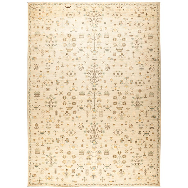 """Amara, Eclectic Area Rug - 10' 1"""" X 13' 9"""" For Sale"""
