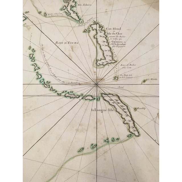 1762 Depot Des Cartes Carte Reduite De l'Isle De Cube Map of Cuba Hydrographical For Sale - Image 11 of 13