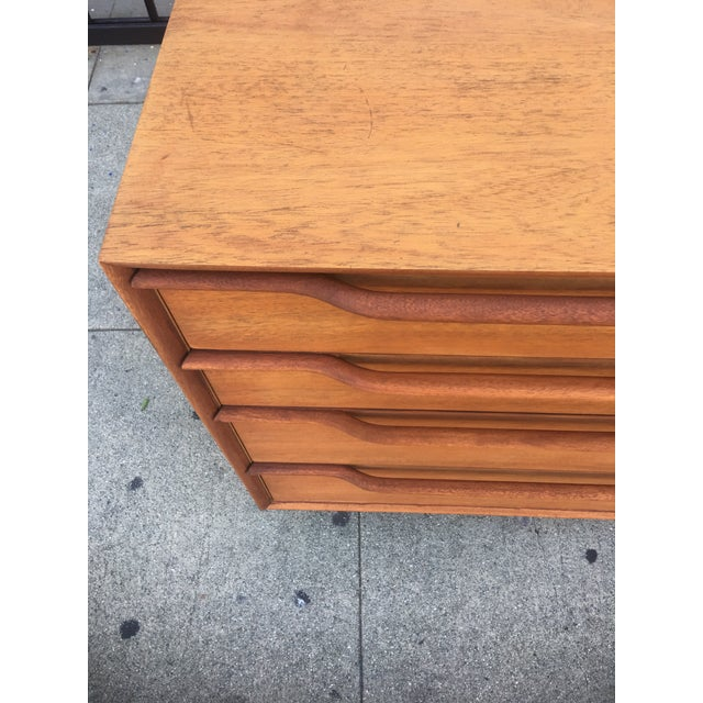 Mid-Century Modern Mid-Century Sculptural Credenza with Cane Details For Sale - Image 3 of 10