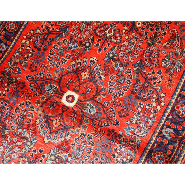 1920s, Handmade Antique Persian Sarouk Rug 3.2' X 5.2' For Sale - Image 4 of 10