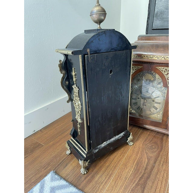 Antique Mid 19th Century French Mantel Clock With Case For Sale In Los Angeles - Image 6 of 11