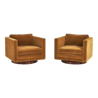 Harvey Probber Cube Swivel Chairs, Model No. 1461 For Sale