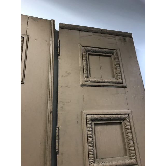 1880s Monumental Italian Renaissance Architectural Salvage Church Doors - a Pair For Sale - Image 6 of 13
