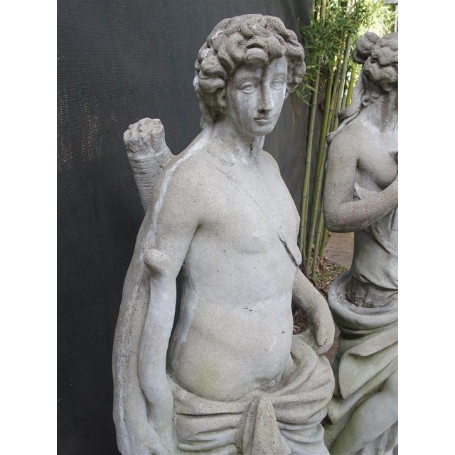 Pair of 20th Century French Statues Representing Apollo and Diana For Sale - Image 12 of 13