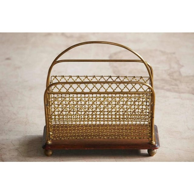 19th Century Aesthetic Movement Woven Brass Canterbury Rack For Sale In New York - Image 6 of 8