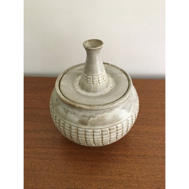 Mid-Century Modern Douglas Ferguson of Pigeon Forge Pottery Studio Lidded Pot For Sale - Image 3 of 8