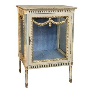 19th Century Italian Louis XVI Painted Vitrine